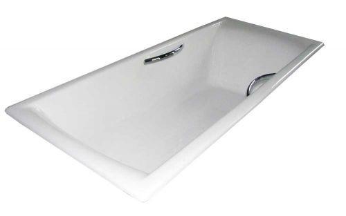 прямоугольная чугунная ванна с ручками Castalia Prime 180