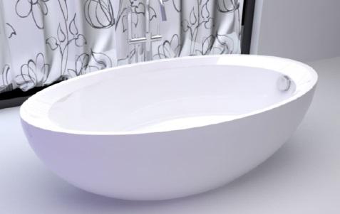 овальная акриловая ванна Gemy G9217