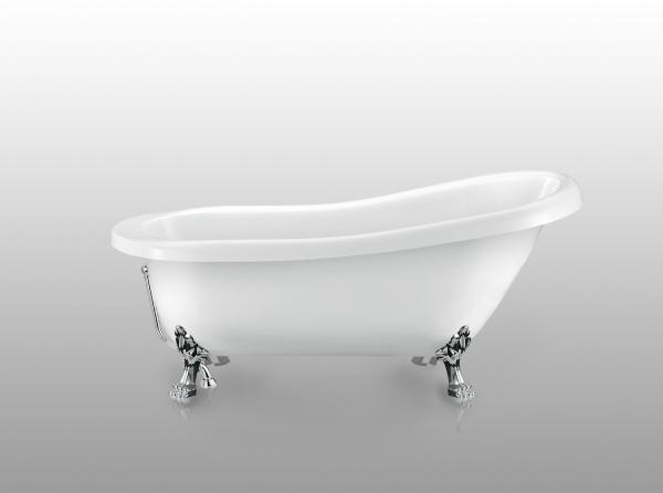 овальная ванна на ножках Magliezza Alba CR 155х72 см