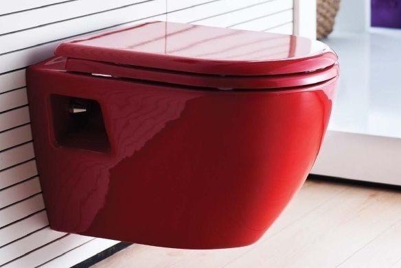Унитаз подвесной Creavit Terra TP325 с биде, красный мебель детская комната маугли