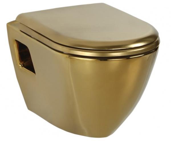 подвесной унитаз Creavit TP325.00110 золото