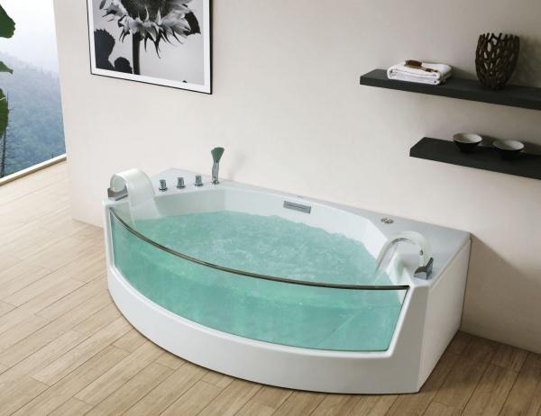 акриловая ванна с прозрачным экраном Gemy G9079
