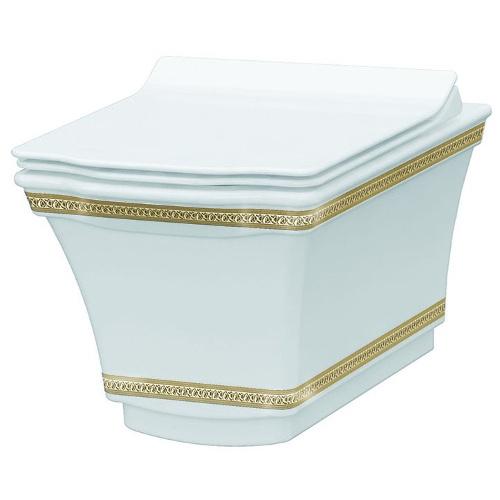 подвесной унитаз Boheme Hermitage 951-G Gold