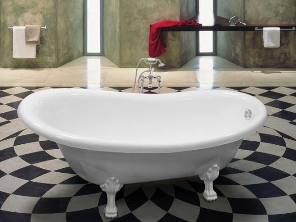 мраморная ванна на ножках Castone Даллас